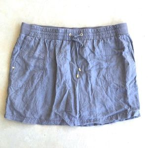 Company Ellen Tracy Gray Linen Skort with Pockets